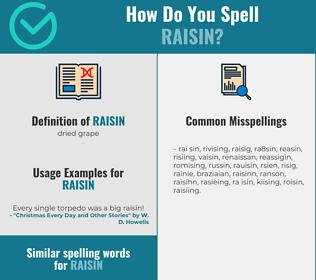 Correct spelling for raisin