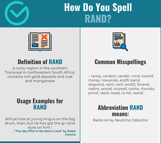 Correct spelling for rand