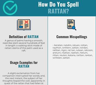 Correct spelling for rattan