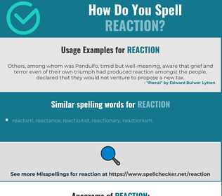 Correct spelling for reaction