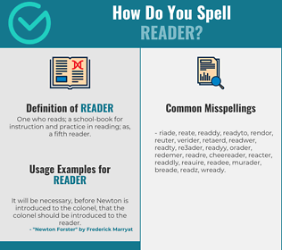 Correct spelling for reader