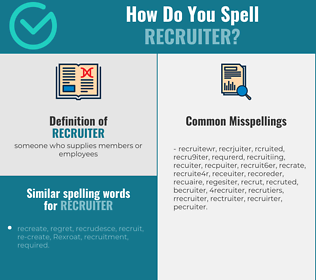 Correct spelling for recruiter
