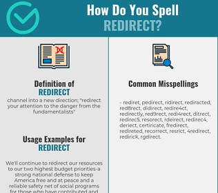 Correct spelling for redirect