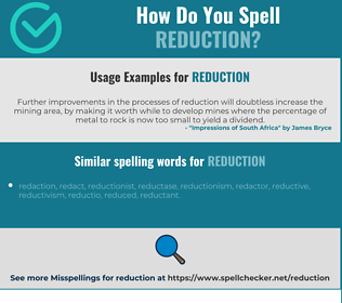 Correct spelling for reduction