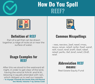 Correct spelling for reef