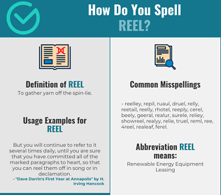 Correct spelling for reel