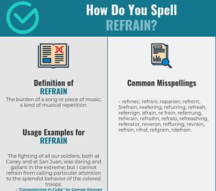 Correct Spelling For Refrain