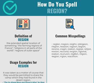 Correct spelling for region