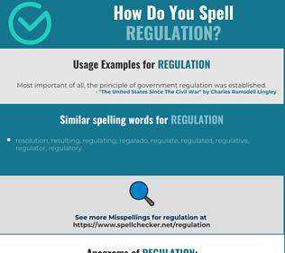 Correct spelling for regulation