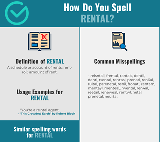 Correct spelling for rental