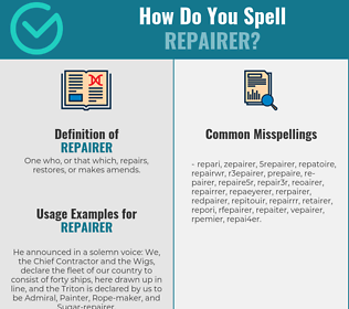 Correct spelling for repairer