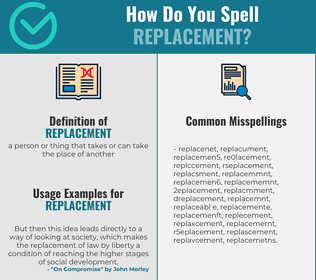 Correct spelling for replacement