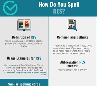 Correct spelling for res
