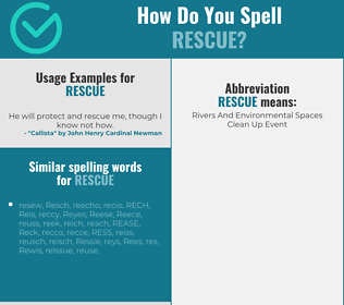 Correct spelling for rescue
