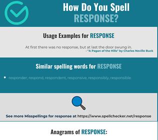 Correct spelling for response