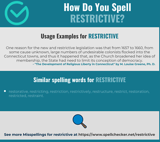 Correct spelling for restrictive