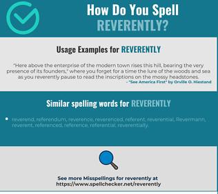 Correct spelling for reverently