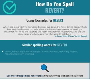 Correct spelling for revert