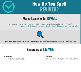 Correct spelling for revived