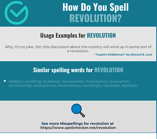 Correct spelling for revolution