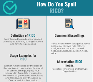 Correct spelling for rico