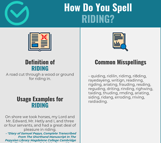 Correct spelling for riding