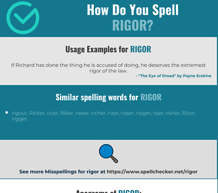 Correct spelling for rigor