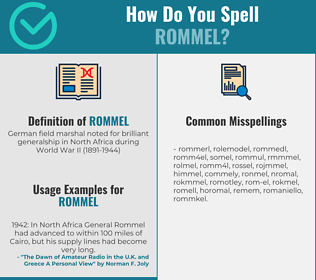 Correct spelling for rommel