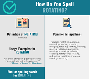 Correct spelling for rotating