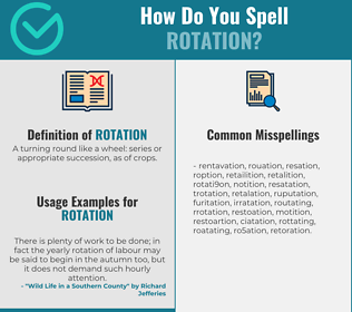 Correct spelling for rotation