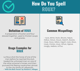 Correct spelling for roux