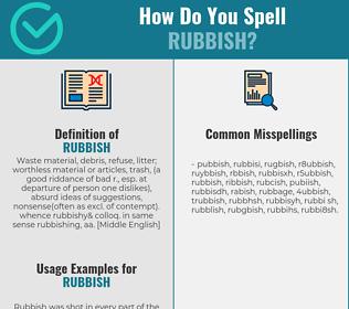 Correct spelling for rubbish