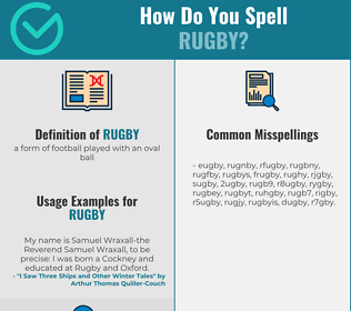 Correct spelling for rugby