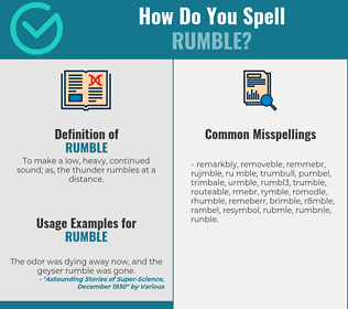 Correct spelling for rumble
