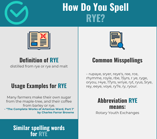 Correct spelling for rye
