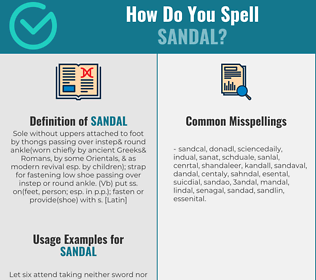 Correct spelling for sandal