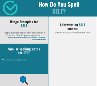 Correct spelling for self