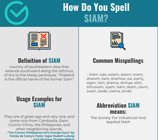 Correct spelling for siam