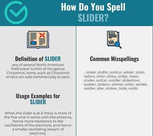 Correct spelling for slider