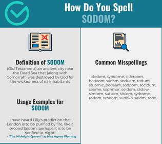 Correct spelling for sodom