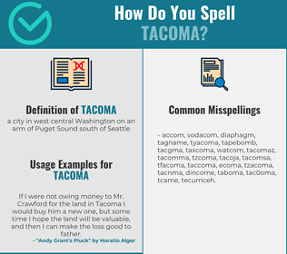 Correct spelling for tacoma