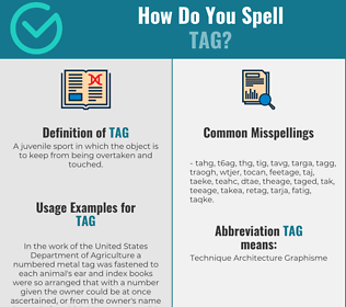 Correct spelling for tag