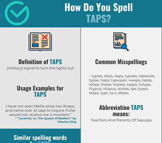 Correct spelling for taps