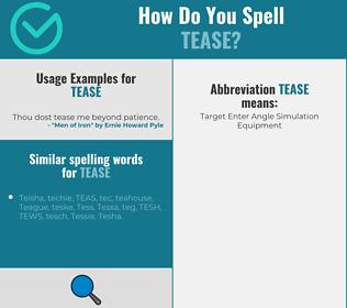 Correct spelling for tease