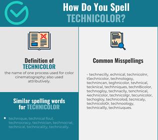 Correct spelling for technicolor