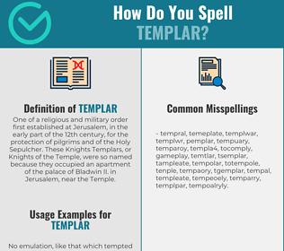 Correct spelling for templar