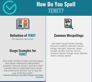 Correct spelling for tenet
