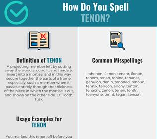 Correct spelling for tenon