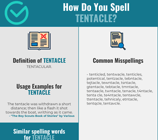 Correct spelling for tentacle