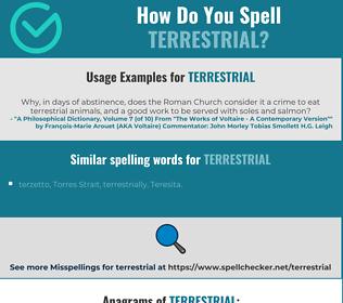 Correct spelling for terrestrial